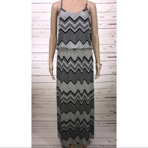 Rouge Black & White Maxi Dress Size 1X